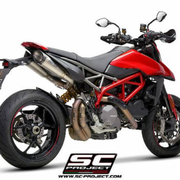 SC Project Pair of S1 D31 41T Slip On Titanium Exhaust For Ducati HyperMotard 950 SP 1