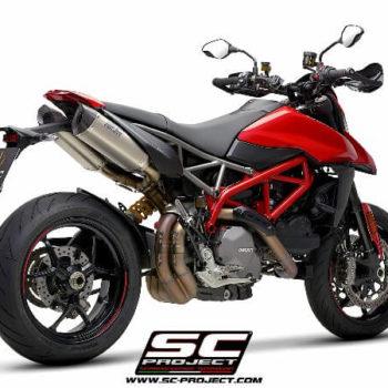 SC Project Pair of SC1 M D31 115T Slip On Titanium Exhaust For Ducati HyperMotard 950 SP 1