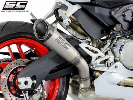 SC Project S1 D20 T41T Slip On Titanium Exhaust For Ducati Panigale 959 2