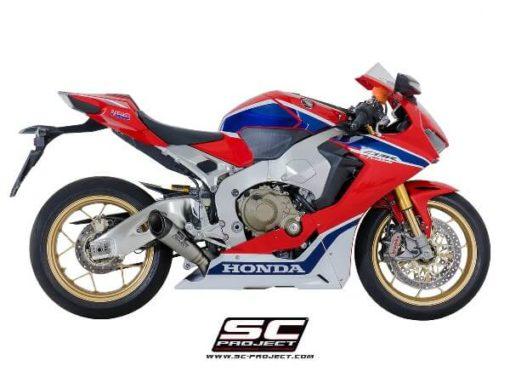 SC Project S1 H15 LT41T Slip On Titanium Exhaust For Honda CBR 1000RR 3