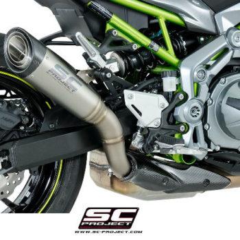 SC Project S1 K25 T41T Slip On Titanium Exhaust For Kawasaki Z900 2