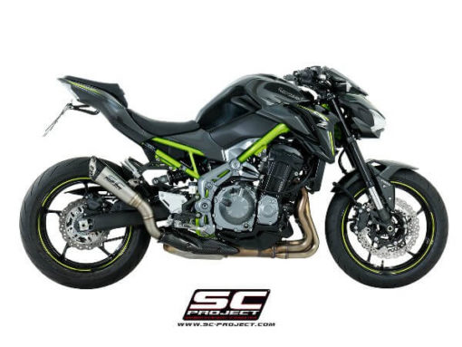 SC Project S1 K25 T41T Slip On Titanium Exhaust For Kawasaki Z900 3