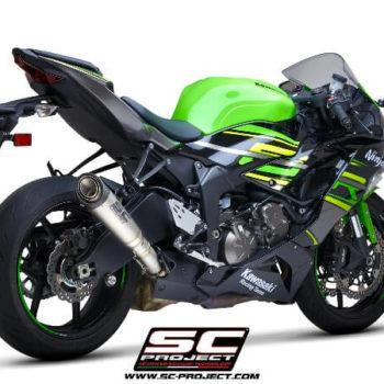 SC Project S1 K35 T41T Slip On Titanium Exhaust For Kawasaki Ninja ZX 6R 636 1