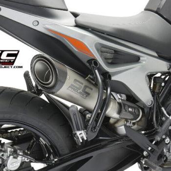 SC Project S1 KTM12 41T Slip On Titanium Exhaust For KTM Duke 790 2