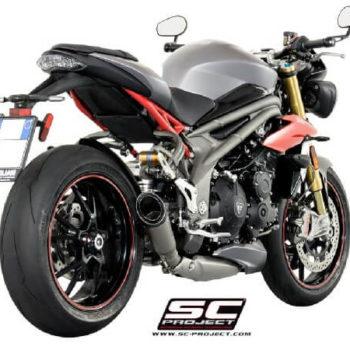 SC Project S1 T16 LT41T Slip On Titanium Exhaust For Triumph Speed Triple 1050 1