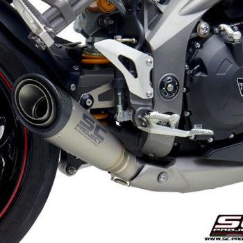 SC Project S1 T22 T41T Slip On Titanium Exhaust For Triumph Speed Triple 1050 2