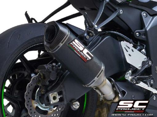 SC Project SC1 M K35 T113C Slip On Carbon Fiber Exhaust For Kawasaki Ninja ZX 6R 636 2
