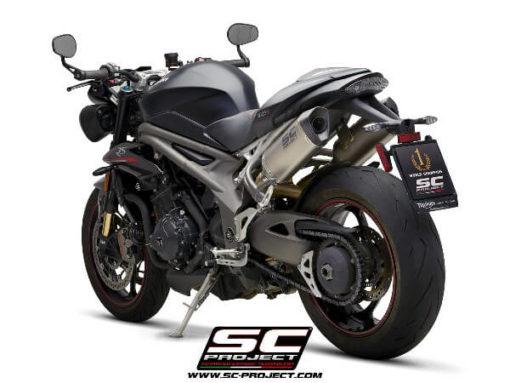 SC Project SC1 M T22 115T Slip On Titanium Exhaust For Triumph Speed Triple 1050 2