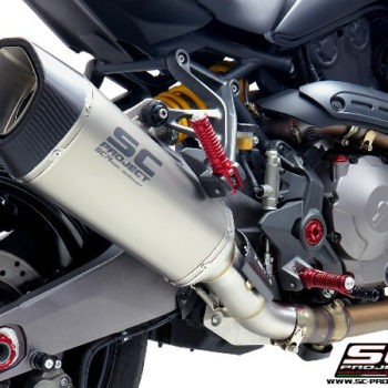 SC Project SC1 R D25 91C Slip On Carbon Fiber Exhaust For Ducati Monster 821 2