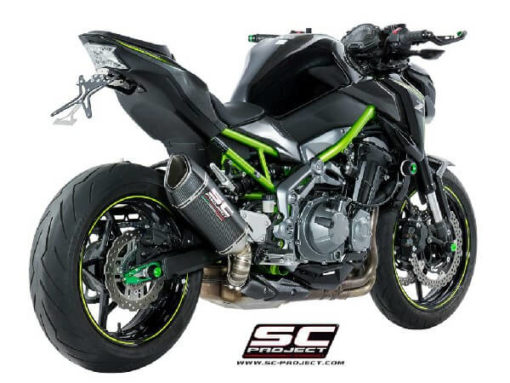 SC Project SC1 R K25 90C Slip On Carbon Fiber Exhaust For Kawasaki Z900 1