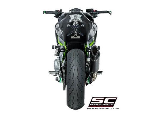 SC Project SC1 R K25 90C Slip On Carbon Fiber Exhaust For Kawasaki Z900 2