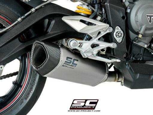 SC Project SC1 R T18 93T Slip On Titanium Exhaust For Triumph Street Triple 765 2
