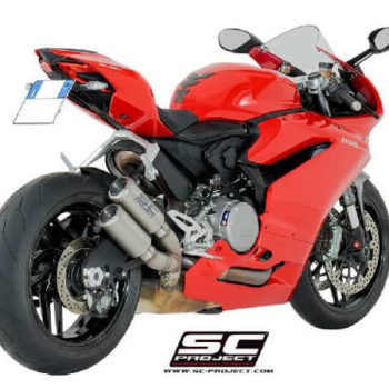 SC Project Twin CRT D20 DT36T Overlapping slip on Titanium Exhaust For Ducati Panigale 959 1