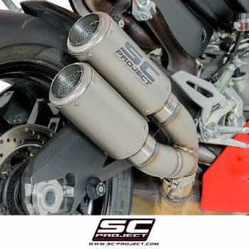 SC Project Twin CRT D20 DT36T Overlapping slip on Titanium Exhaust For Ducati Panigale 959 2
