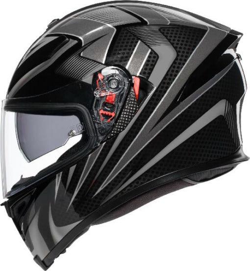AGV K5 S Hurricane 2.0 Multi Plk Matt Black Gun Metal White Full Face Helmet 2020 2