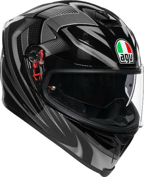 AGV K5 S Hurricane 2.0 Multi Plk Matt Black Gun Metal White Full Face Helmet 2020