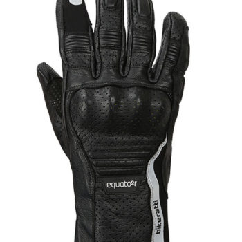 Bikeratti Equator Summer Leather Black Riding Gloves 1