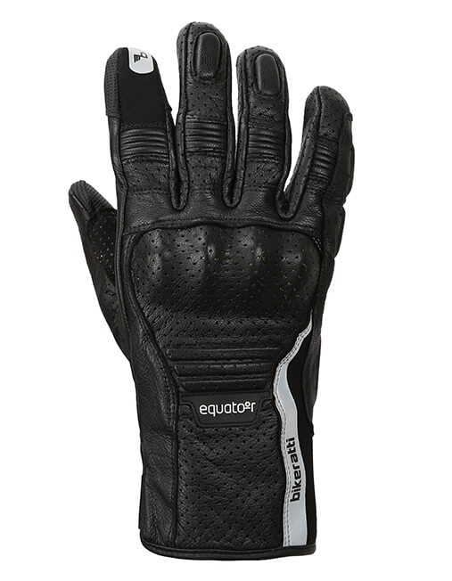Bikeratti Equator Summer Leather Black Riding Gloves 1