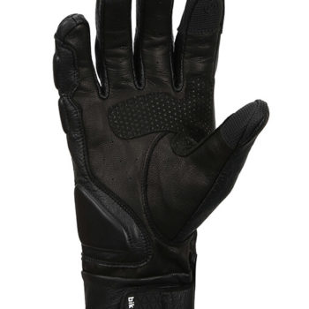 Bikeratti Equator Summer Leather Black Riding Gloves 2
