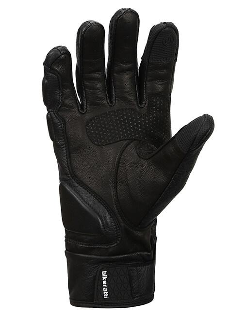 Bikeratti Equator Summer Leather Black Riding Gloves 2