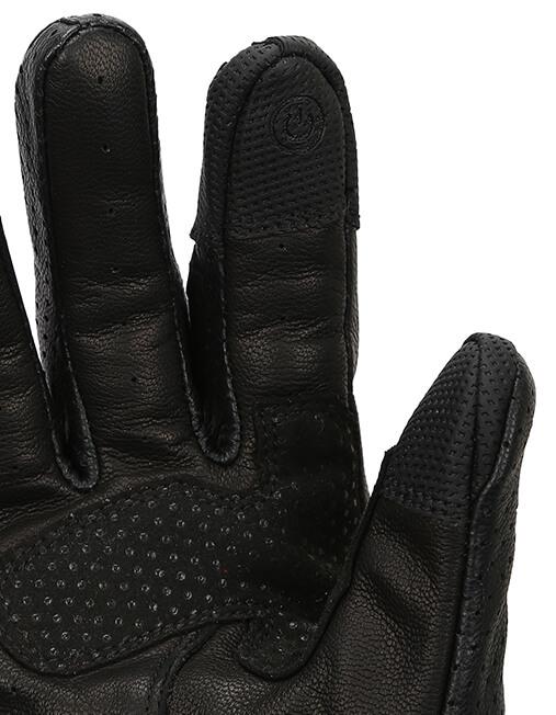 Bikeratti Equator Summer Leather Black Riding Gloves 3