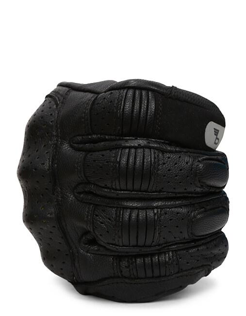 Bikeratti Equator Summer Leather Black Riding Gloves 4