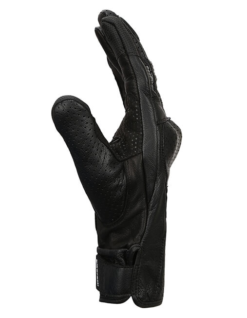 Bikeratti Equator Summer Leather Black Riding Gloves 5