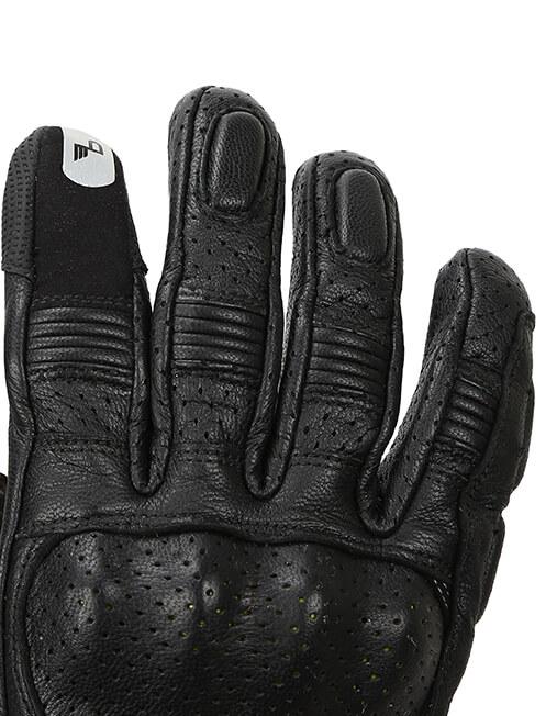 Bikeratti Equator Summer Leather Black Riding Gloves 6