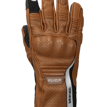 Bikeratti Equator Summer Leather Brown Riding Gloves 1