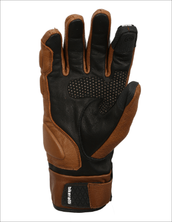 Bikeratti Equator Summer Leather Brown Riding Gloves 2