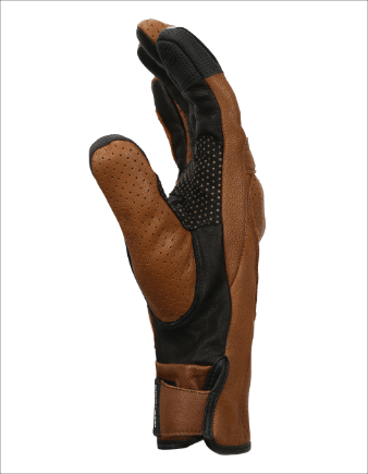 Bikeratti Equator Summer Leather Brown Riding Gloves 3