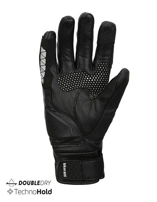 Bikeratti Meridian Black Grey Riding Gloves 1