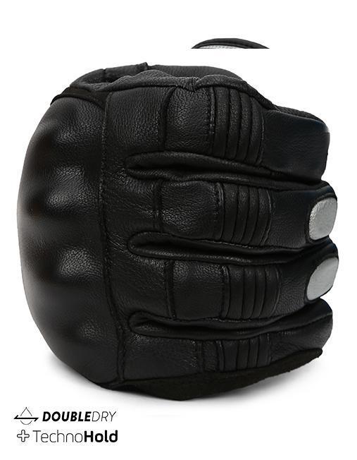 Bikeratti Meridian Black Grey Riding Gloves 5