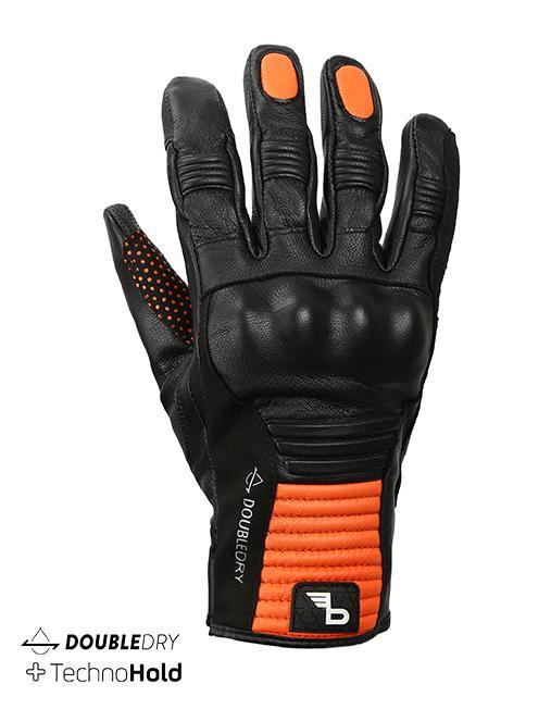 Bikeratti Meridian Black Orange Riding Gloves 1