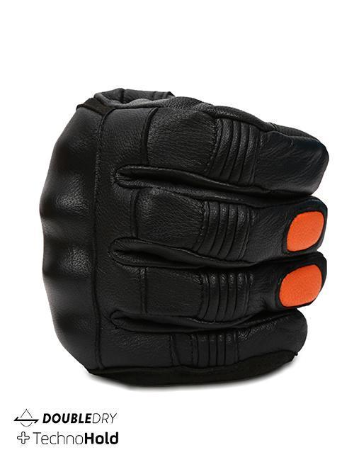 Bikeratti Meridian Black Orange Riding Gloves 5