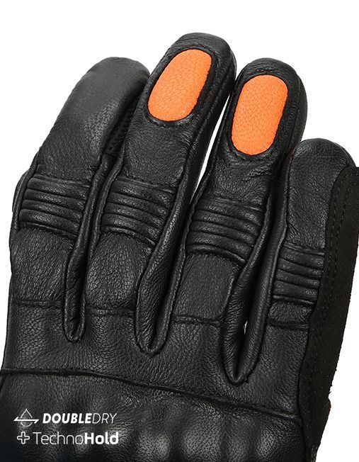 Bikeratti Meridian Black Orange Riding Gloves 6
