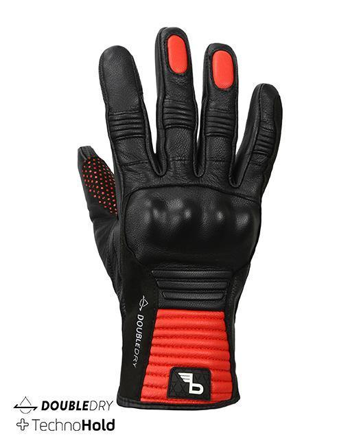 Bikeratti Meridian Black Red Riding Gloves 1