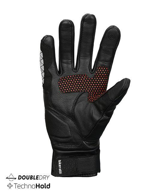 Bikeratti Meridian Black Red Riding Gloves 2