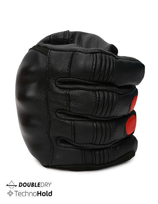 Bikeratti Meridian Black Red Riding Gloves 5