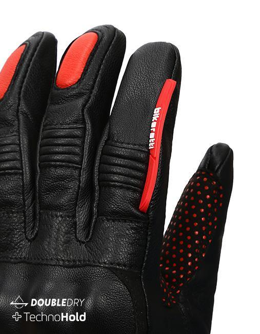 Bikeratti Meridian Black Red Riding Gloves 6