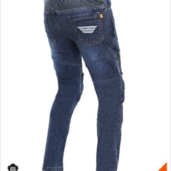 Bikeratti Steam Plus Motorcycling Denim Jeans with Kevlar and D3O ArmourBlue 2