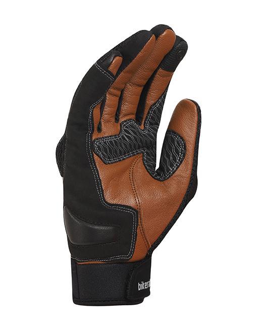 Bikeratti Vind Summer Black Brown Riding Gloves 3