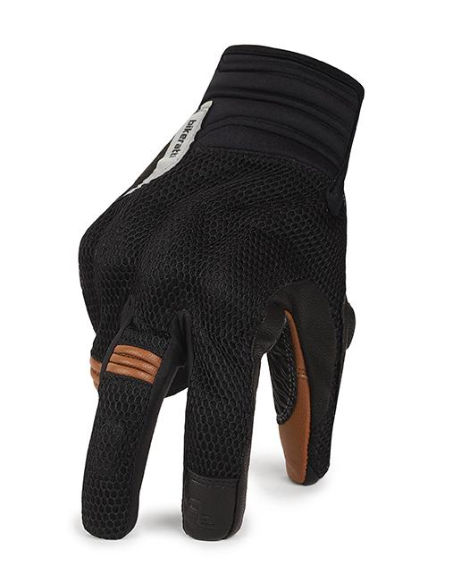 Bikeratti Vind Summer Black Brown Riding Gloves 4