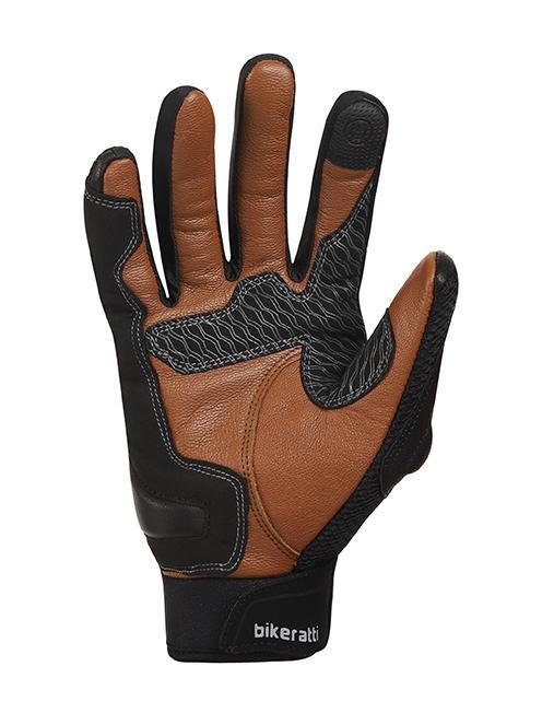 Bikeratti Vind Summer Black Brown Riding Gloves 5