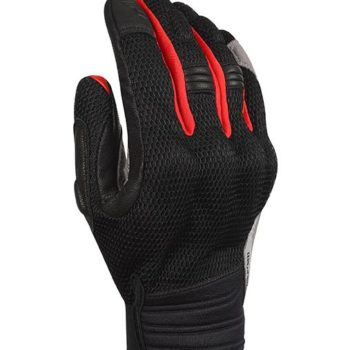 Bikeratti Vind Summer Black Red Grey Riding Gloves 1