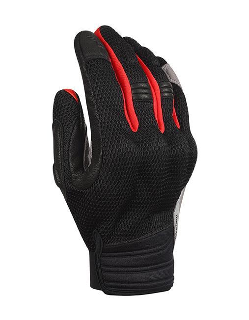 Bikeratti Vind Summer Black Red Grey Riding Gloves 1