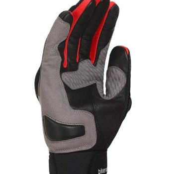 Bikeratti Vind Summer Black Red Grey Riding Gloves 2