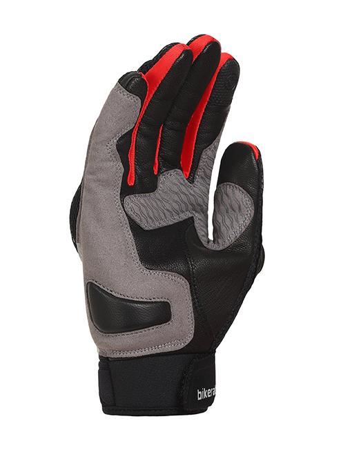 Bikeratti Vind Summer Black Red Grey Riding Gloves 2