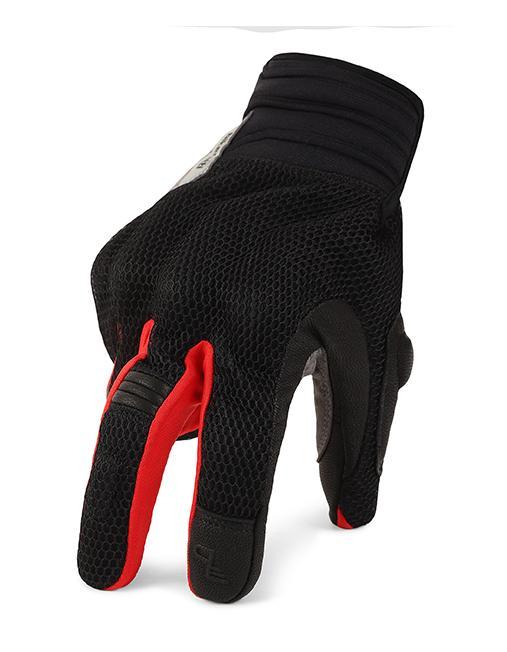 Bikeratti Vind Summer Black Red Grey Riding Gloves 4