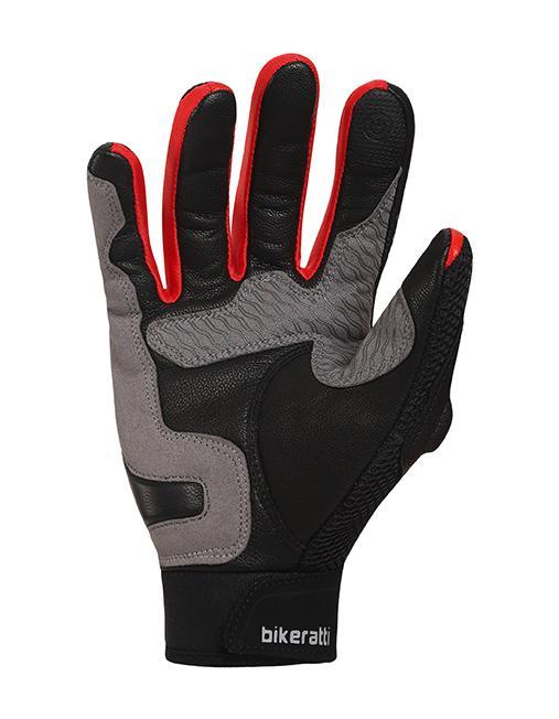 Bikeratti Vind Summer Black Red Grey Riding Gloves 5